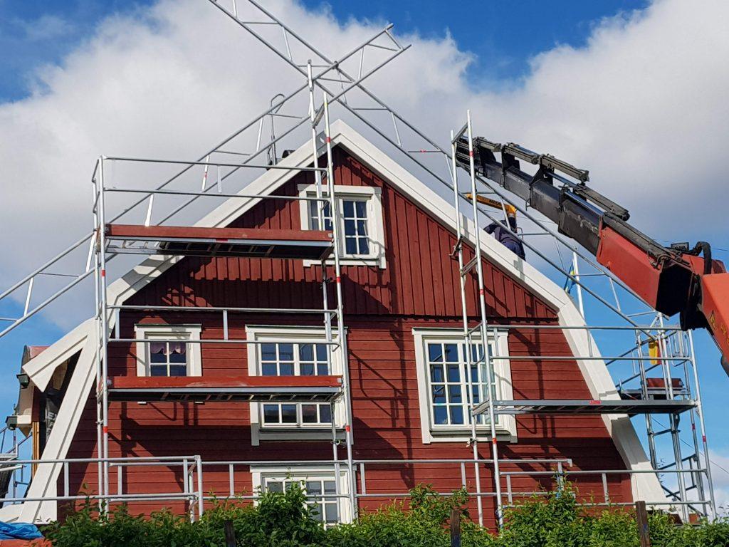Villatak m. utbyggnad (pågående) Gamla Enskede
