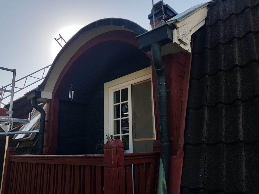 Villatak m. utbyggnad (före) Gamla Enskede